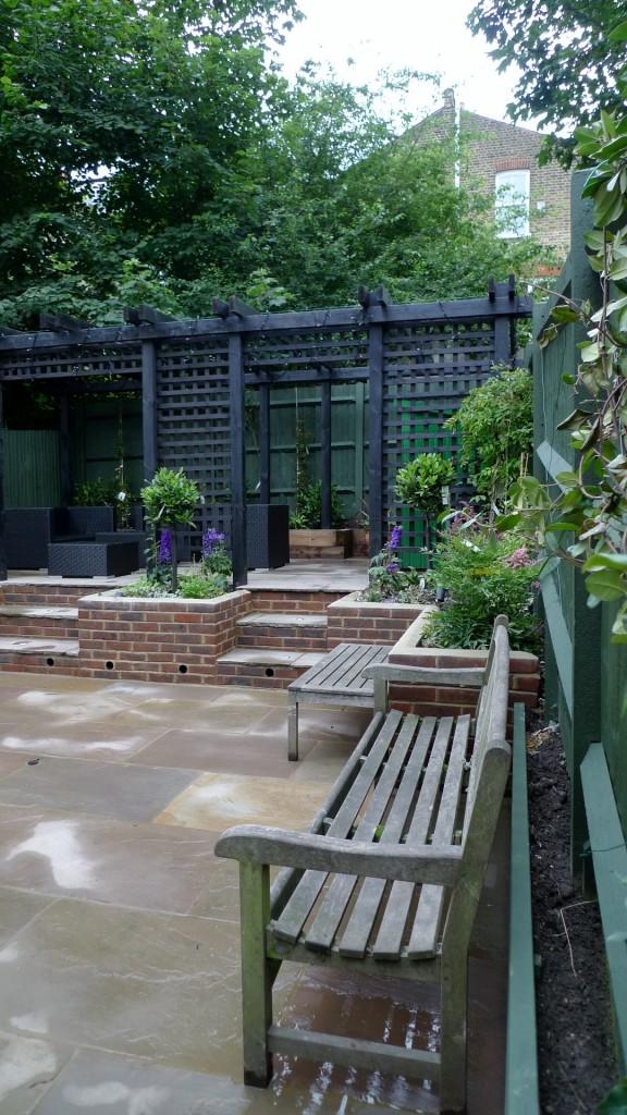 garden walls pergola paving steps planting design designer streatham dulwich clapham london (4)