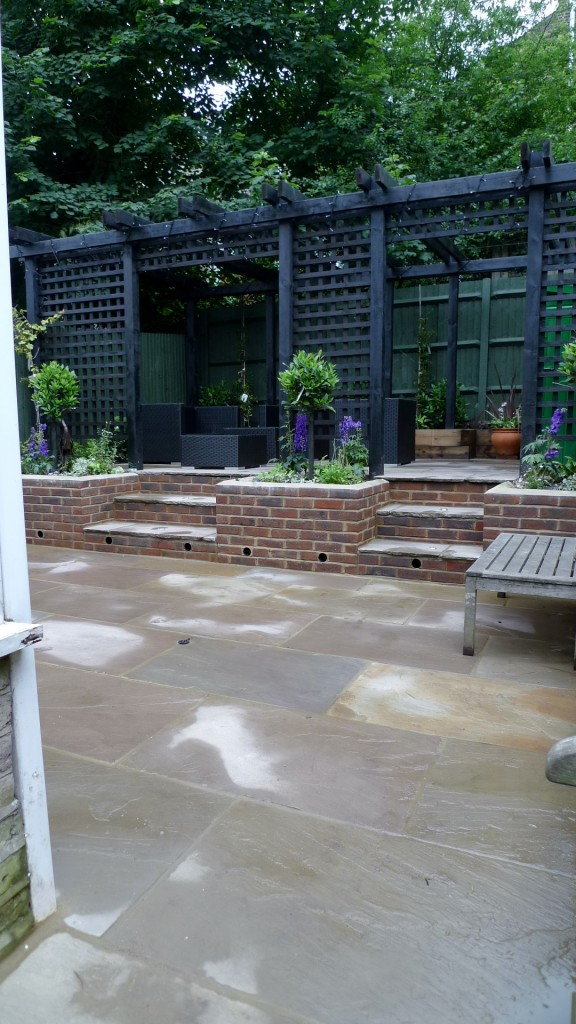 garden walls pergola paving steps planting design designer streatham dulwich clapham london (9)