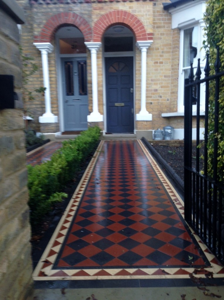 mosaic tile path east dulwich london