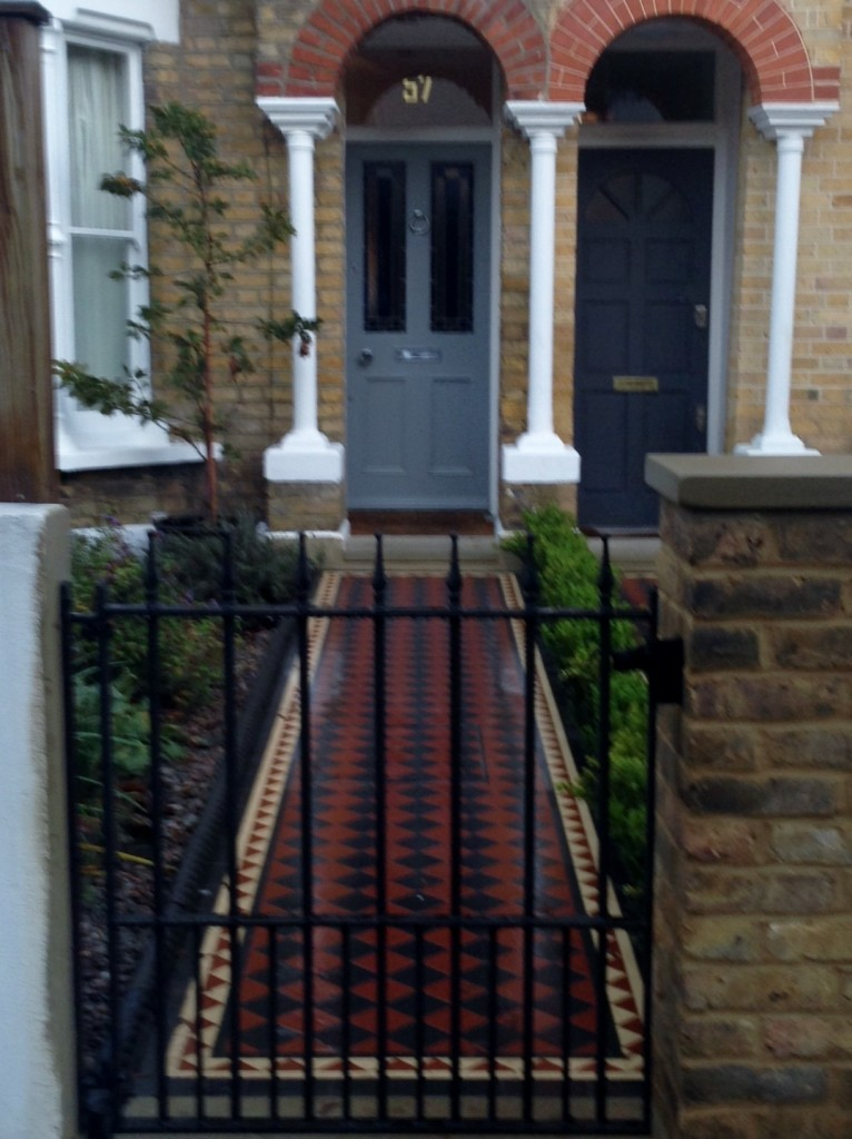 mosaic tile path victorian style herne hill london