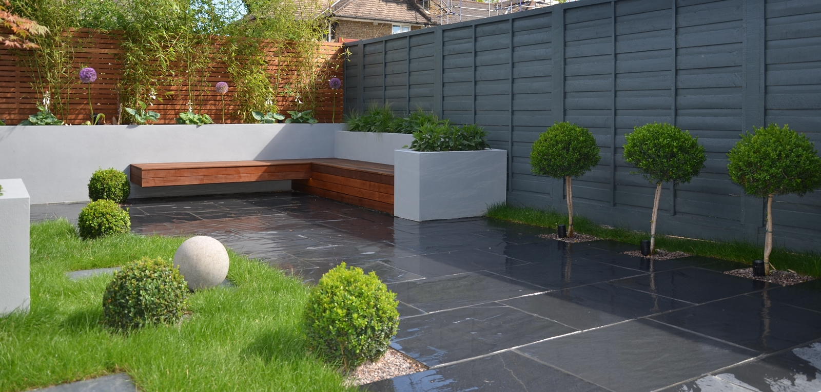 Landscaping london garden design for Large low maintenance garden