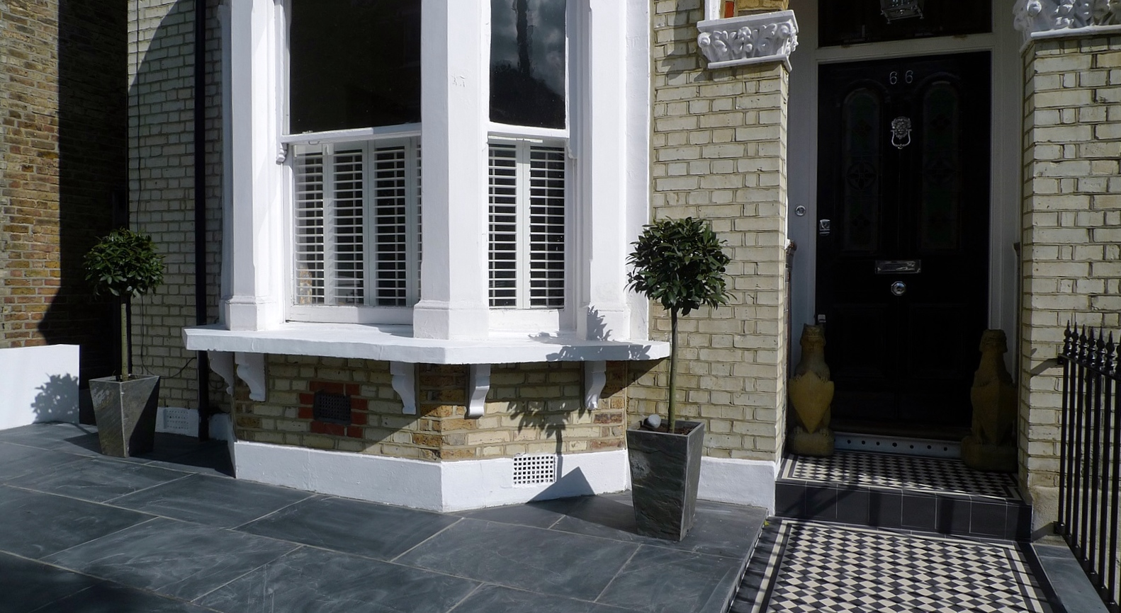 Mosaic Tiles Uk >> Victorian Front Garden Design London - London Garden Design
