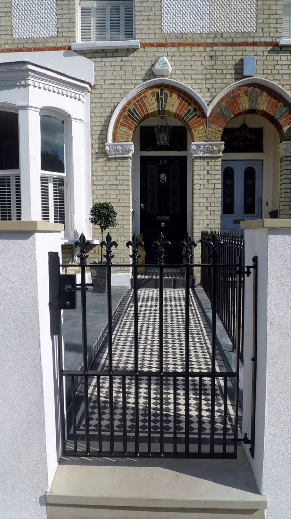 Victorian front garden design and build London