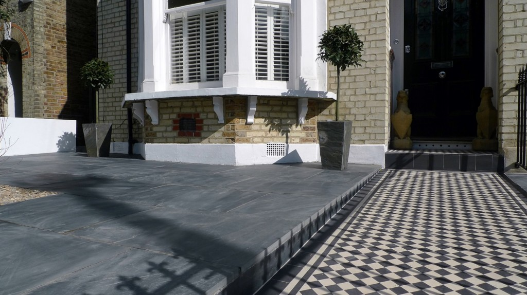 Victorian front garden design south west London