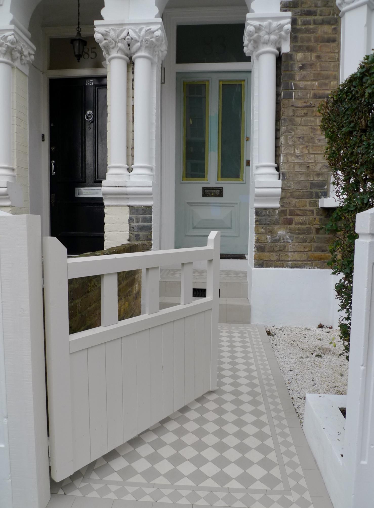 Classic Victorian Front Garden Design Battersea Clapham Balham