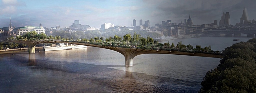 garden bridge london new design landscaping
