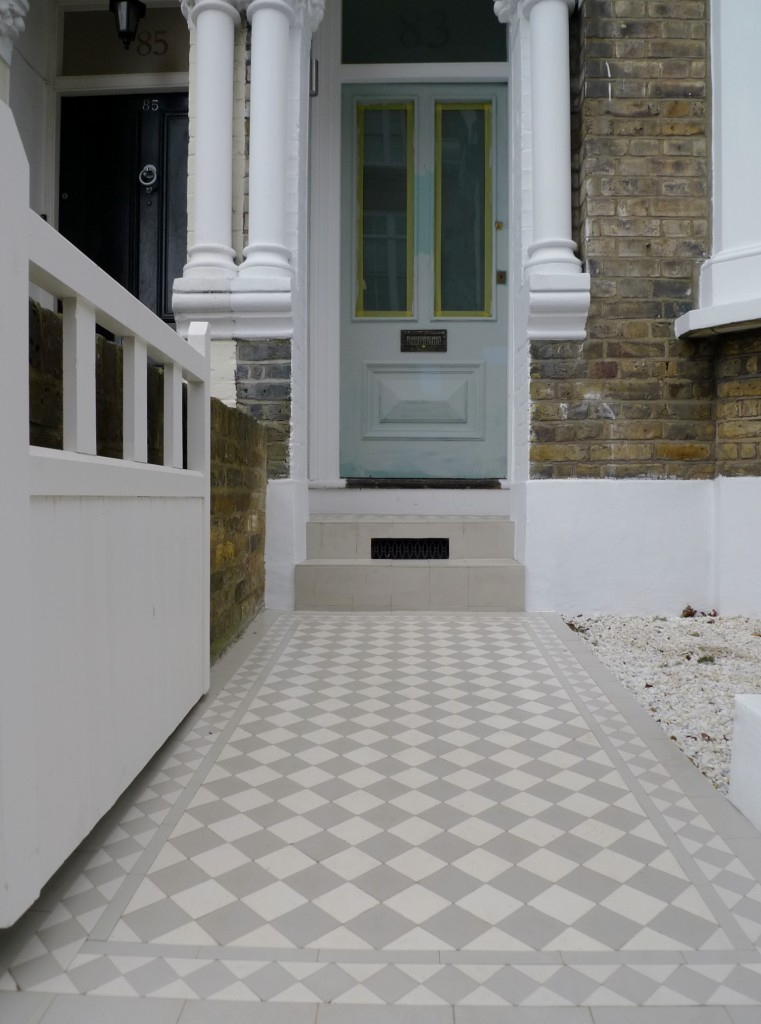 grey and white mosaic battersea london