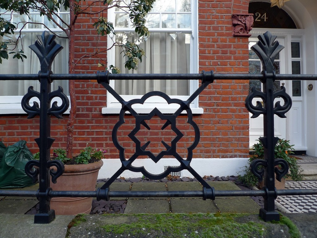 heaver estate metal wrought panel rail section london