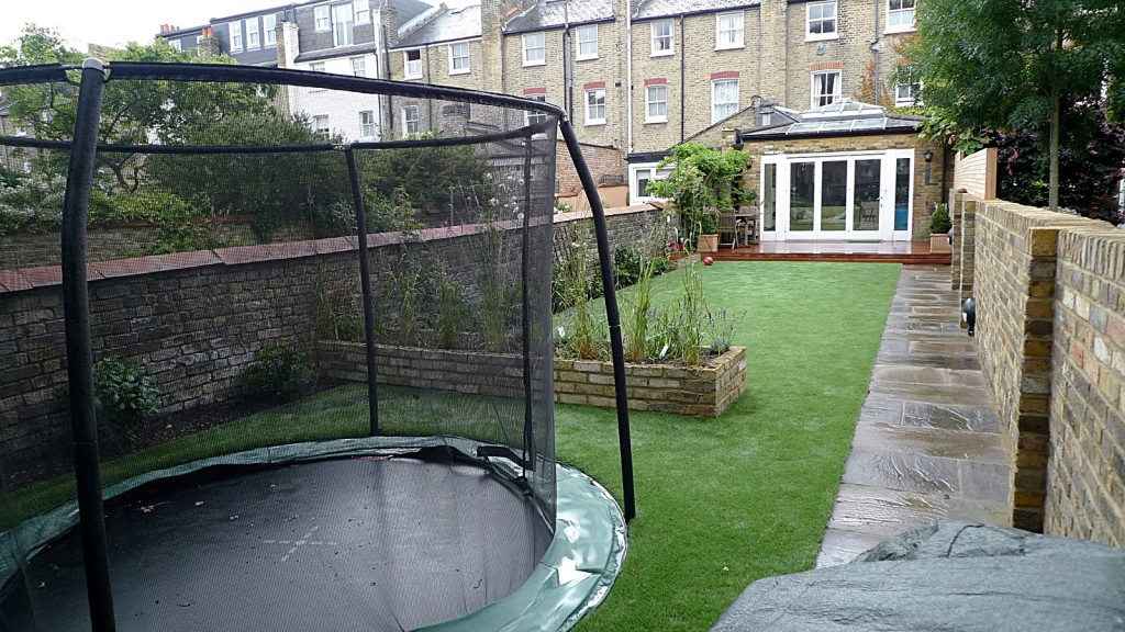 sunken trampoline construction london landscaping