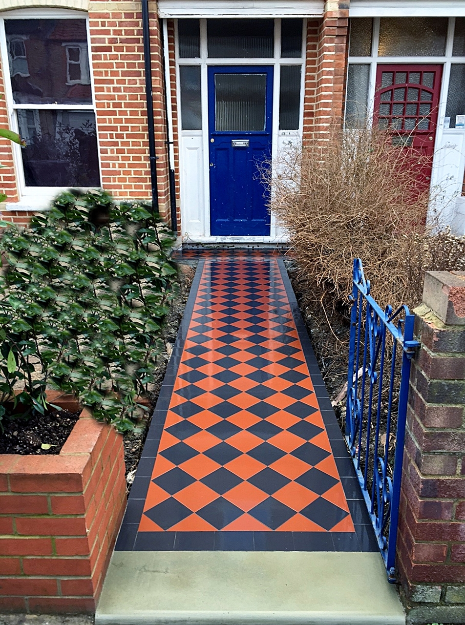 Victorian black and red mosaic tile path Catford Lewisham ...