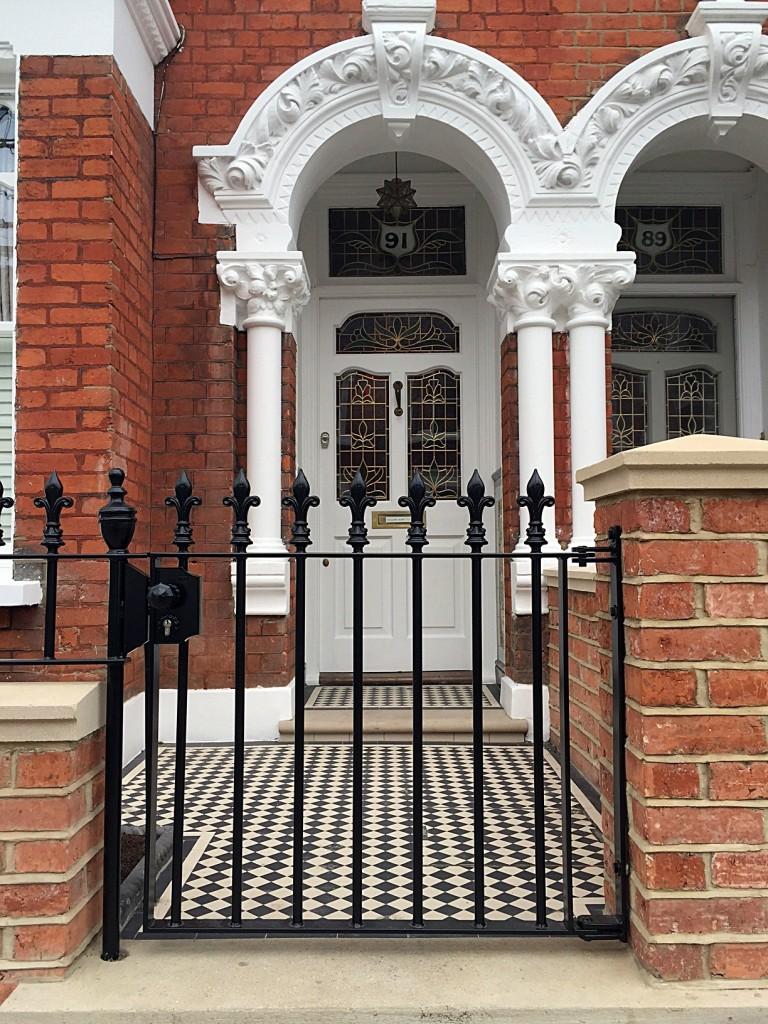 classic london front door and garden victorian restoration fulham chelsea battersea london clapham