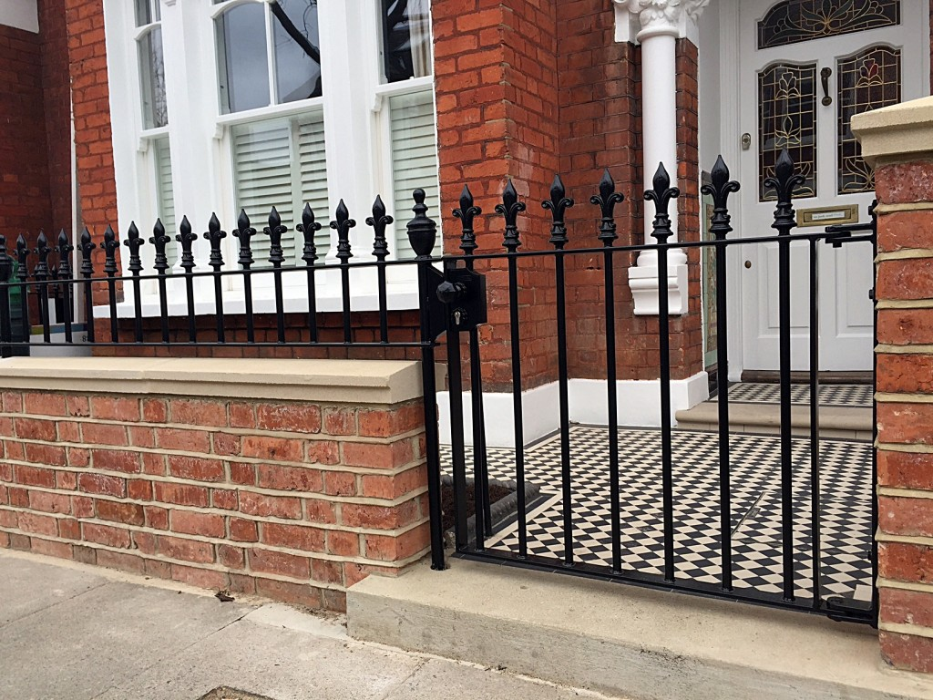 rail and gate london red brick rubber wall coping caps in yorks stone battersea clapham chelsea london