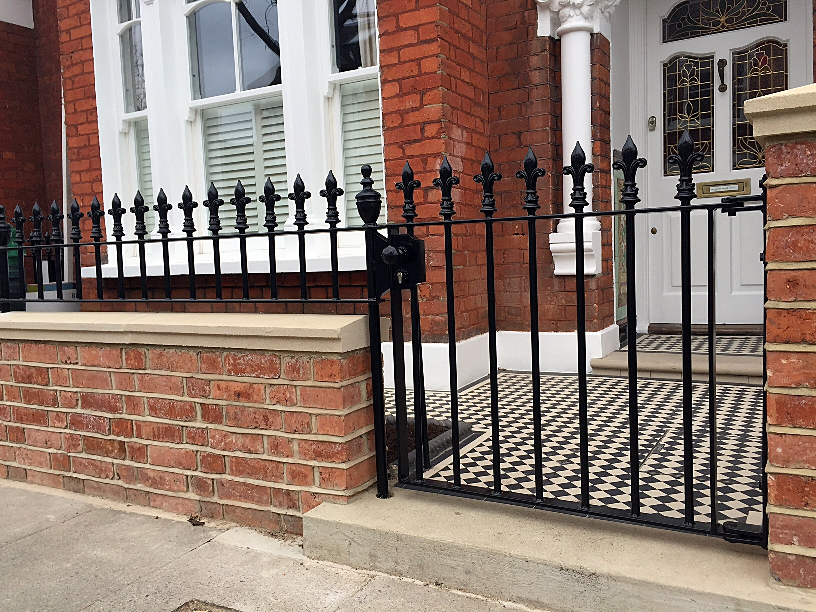Red Brick Front Garden Wall Heavy Rails Amp Gate Victrorian