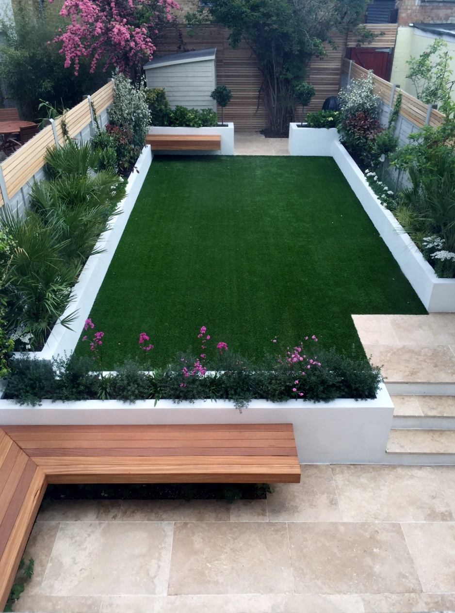 Cedar london garden design for Modern landscape ideas