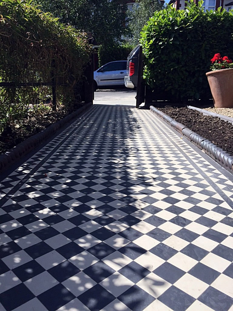victorian black and white mosaic tile path kensington hammersmith peckham wandsworth london