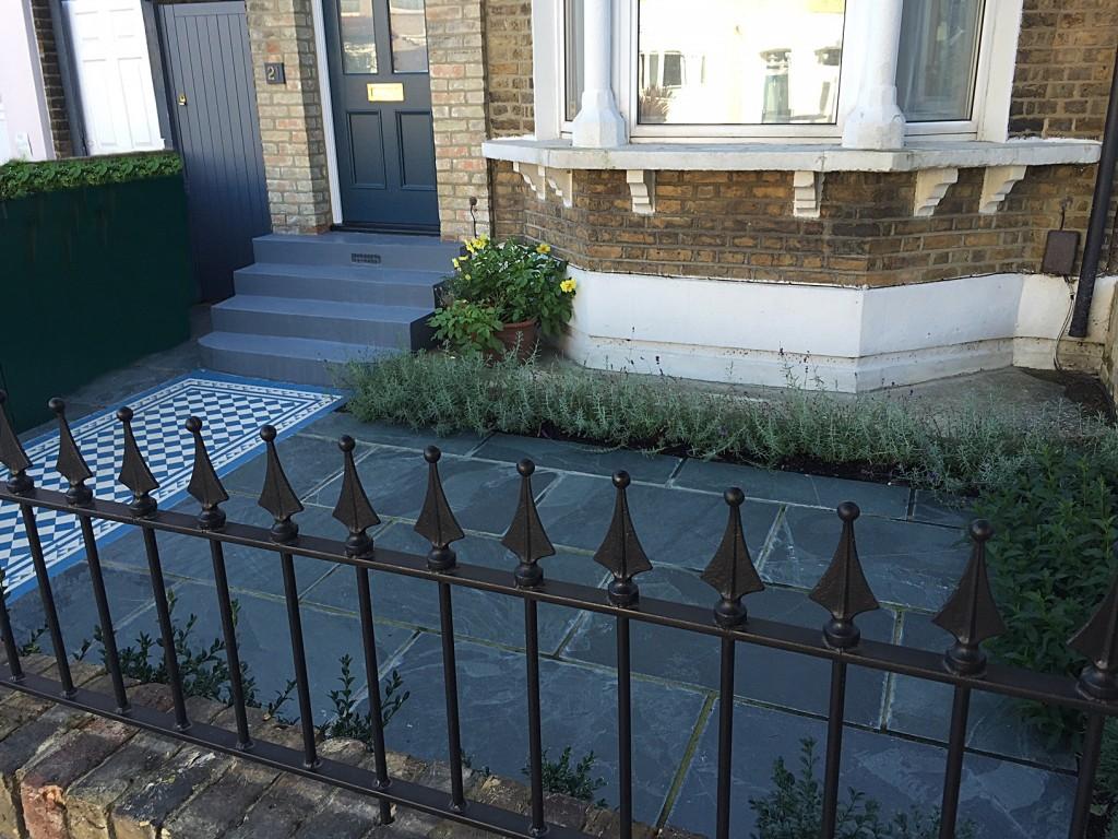 dulwich front garden slate wall rail mosaic peckham clapham sydenham