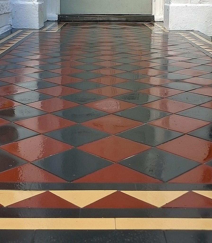 Victorian mosaic multi colour front garden company London