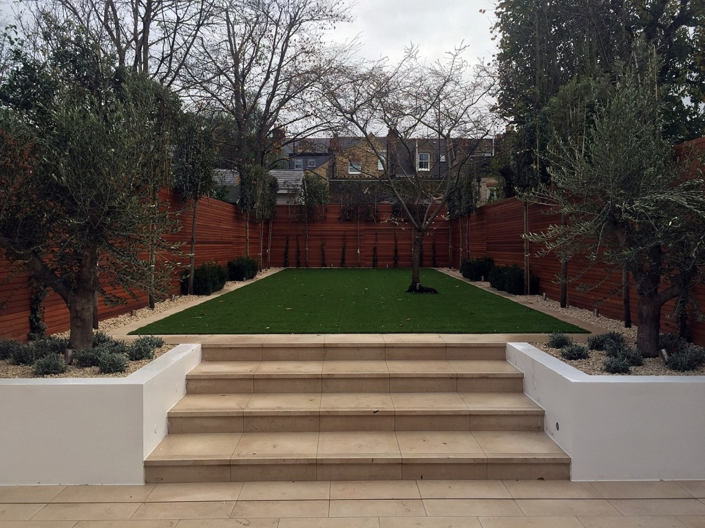 Wandsworth garden design easi grass tile path London Balham Clapham