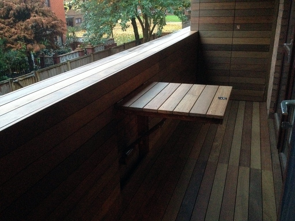 built in table and bespoke storage cupboard 90mm ipe decking roof terrace balcony islington balham clapham dulwich fulham chelsea london