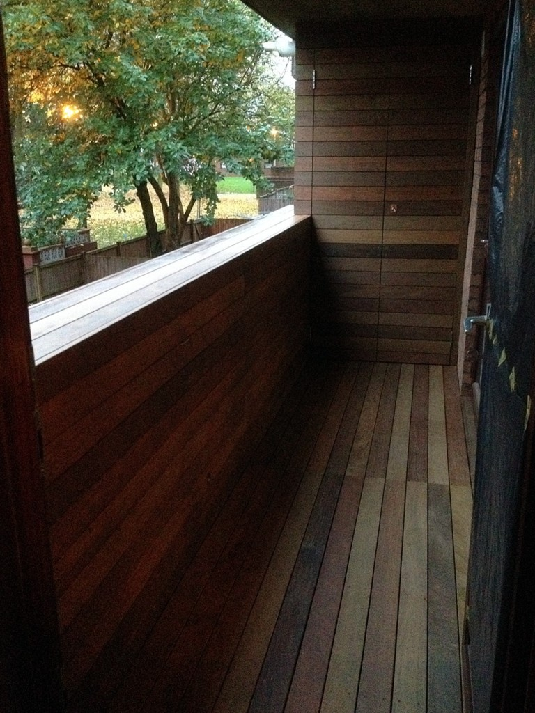 ipe decking balcony islington battersea fulahm chelsea london anewgarden