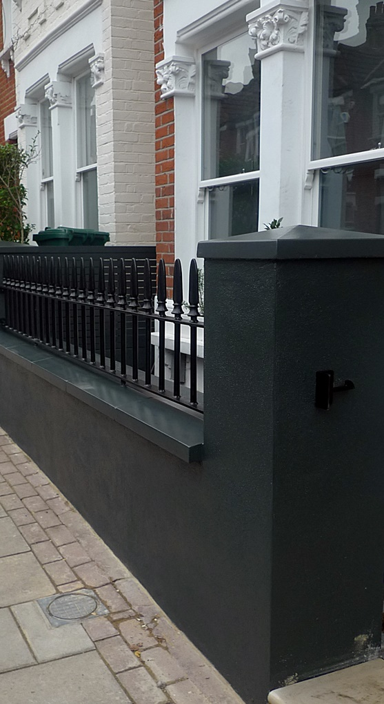 Balham Front garden London company black garden wall