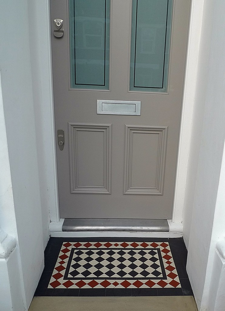 White painting walls Entrance stone York Victorian mosaic London Dulwich Peckham Wandsworth Balham