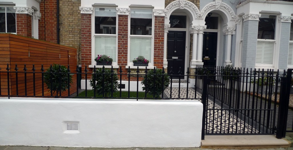 Planting small design front garden london clapham balham for Victorian garden walls designs
