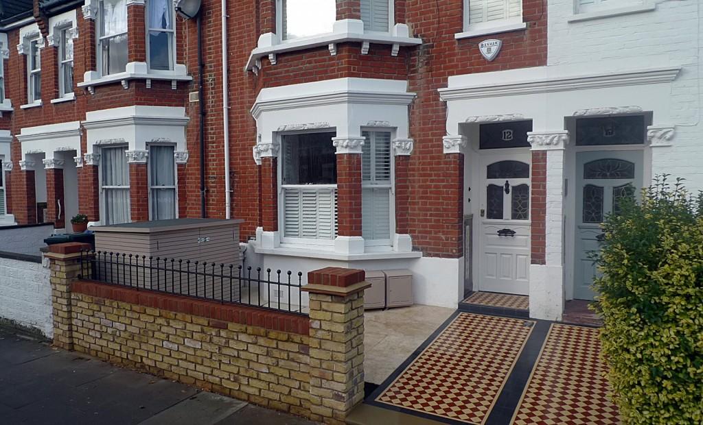 London Victorian mosaic bespoke path tile Kensington Chelsea Fulham