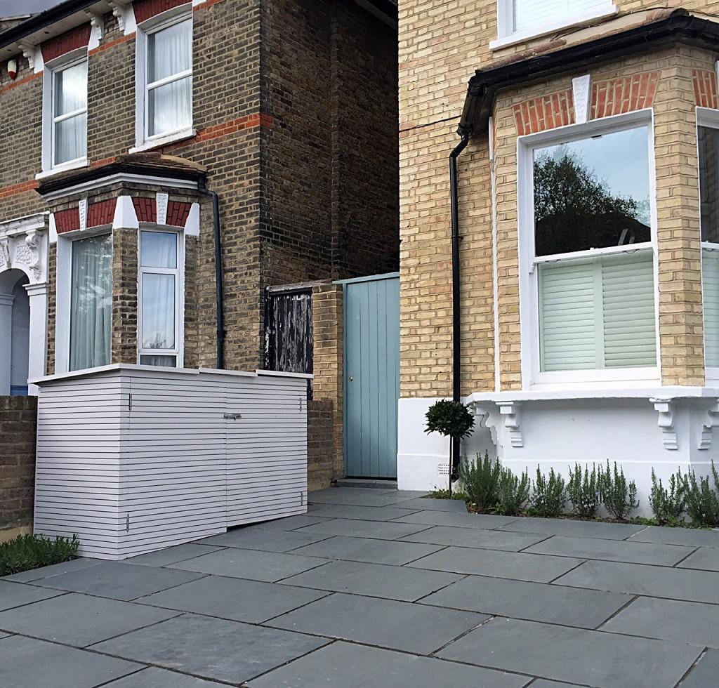 Driveway Dulwich bespoke bin front garden company London
