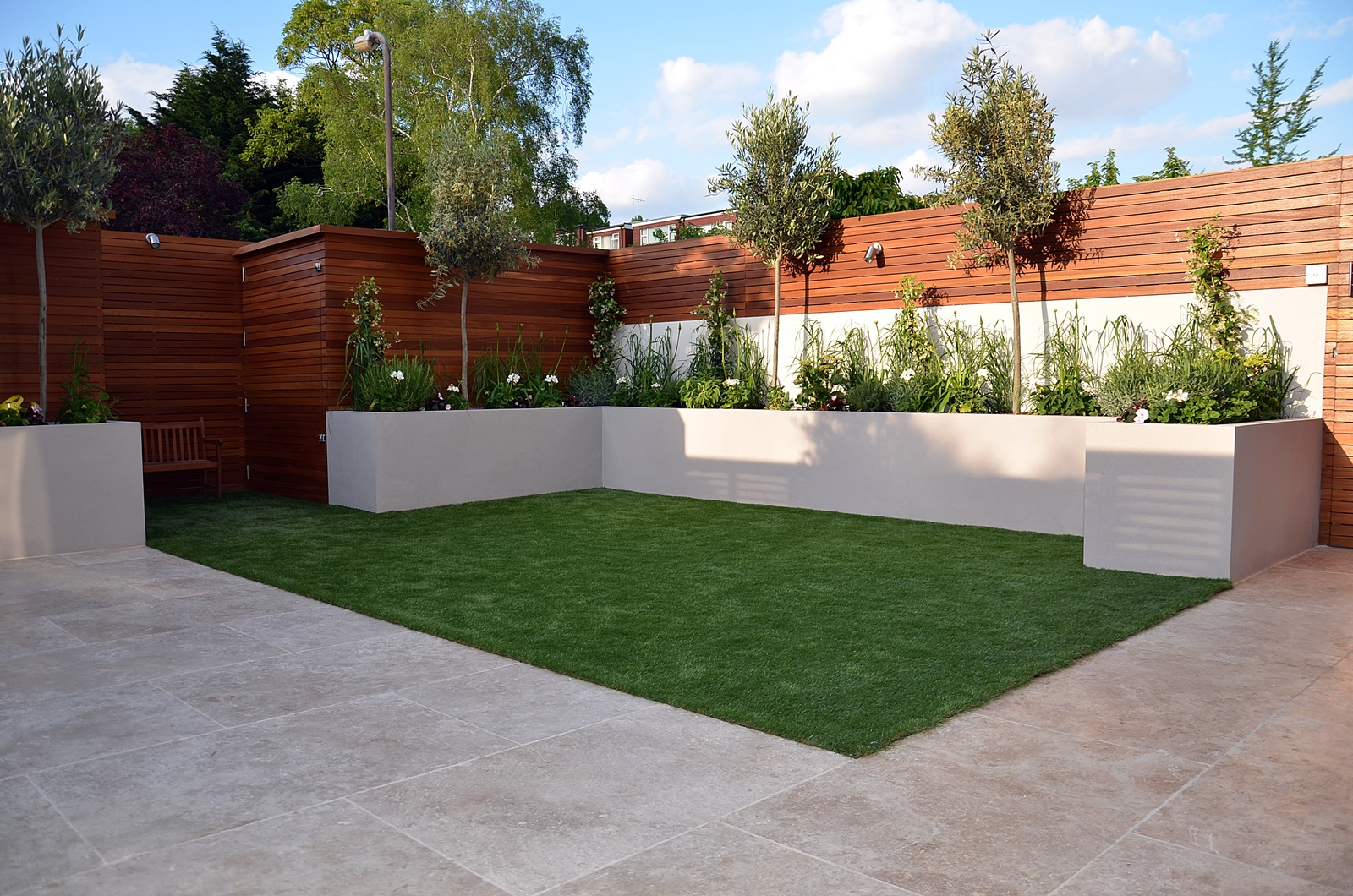 London garden design garden design for Paved garden designs
