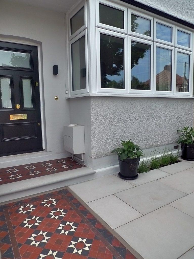 Victorian Edwardian front garden mosaic Clapham Balham Battersea Wandsworth London