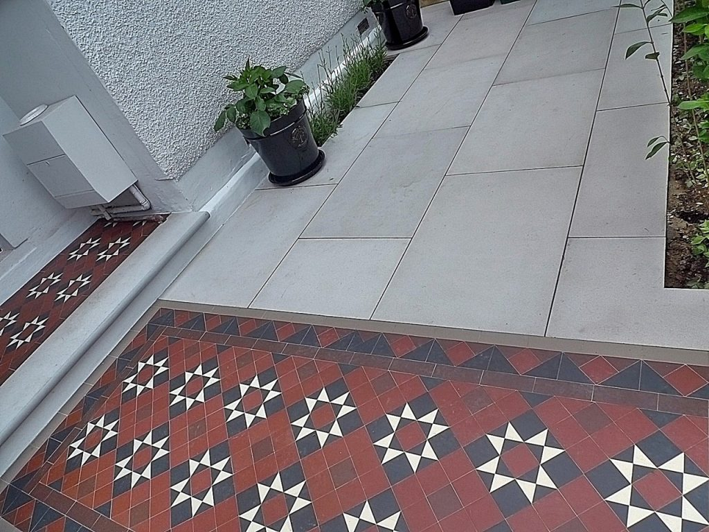 Victorian Edwardian mosaic tile path Fulham Chelsea Kensington Westminster London
