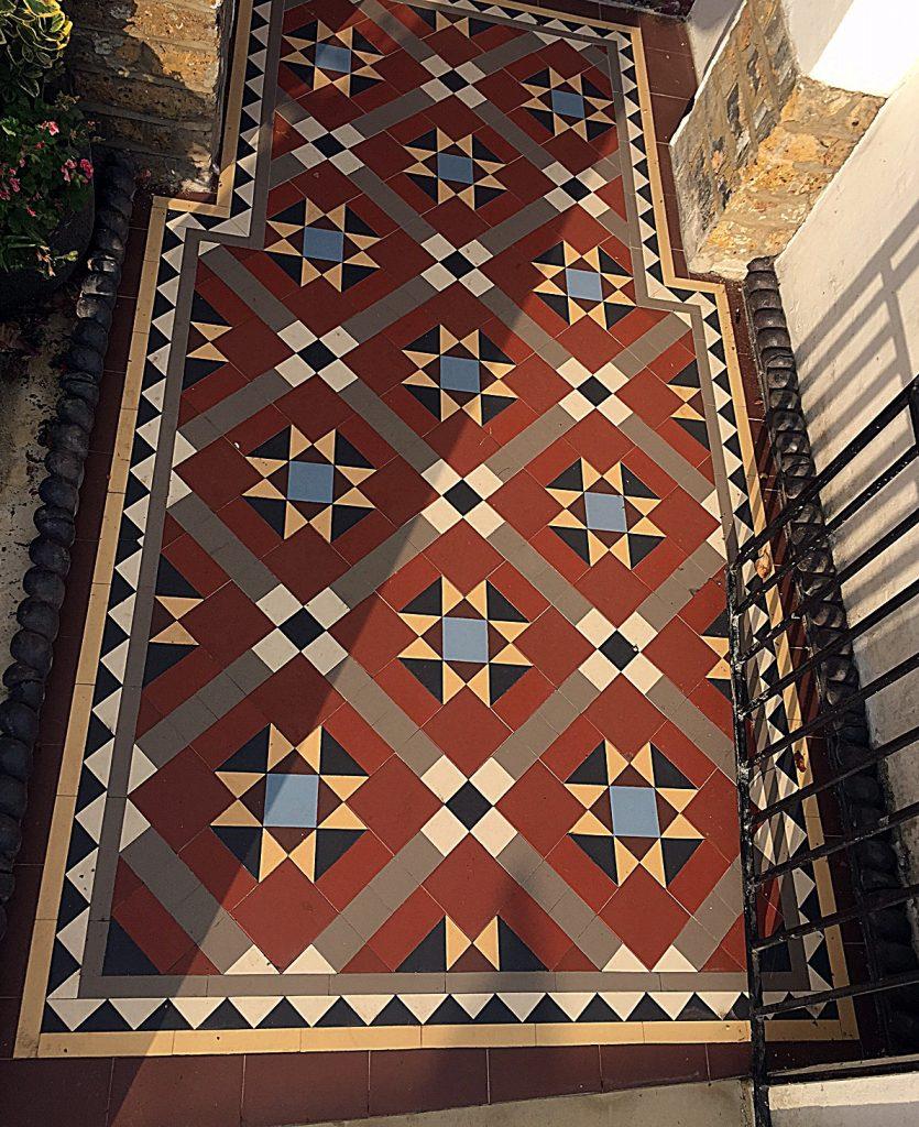 Path tile front garden metal gate London Clapham Balham Wandsworth