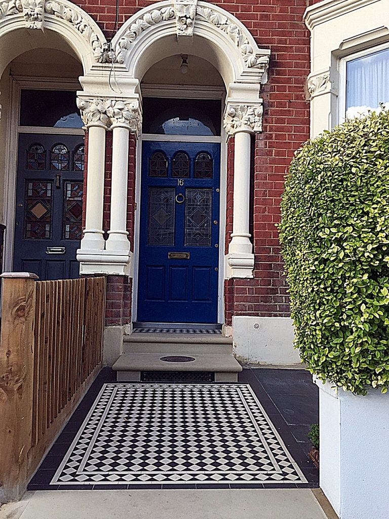 Victorian Mosaic Front Garden Design London