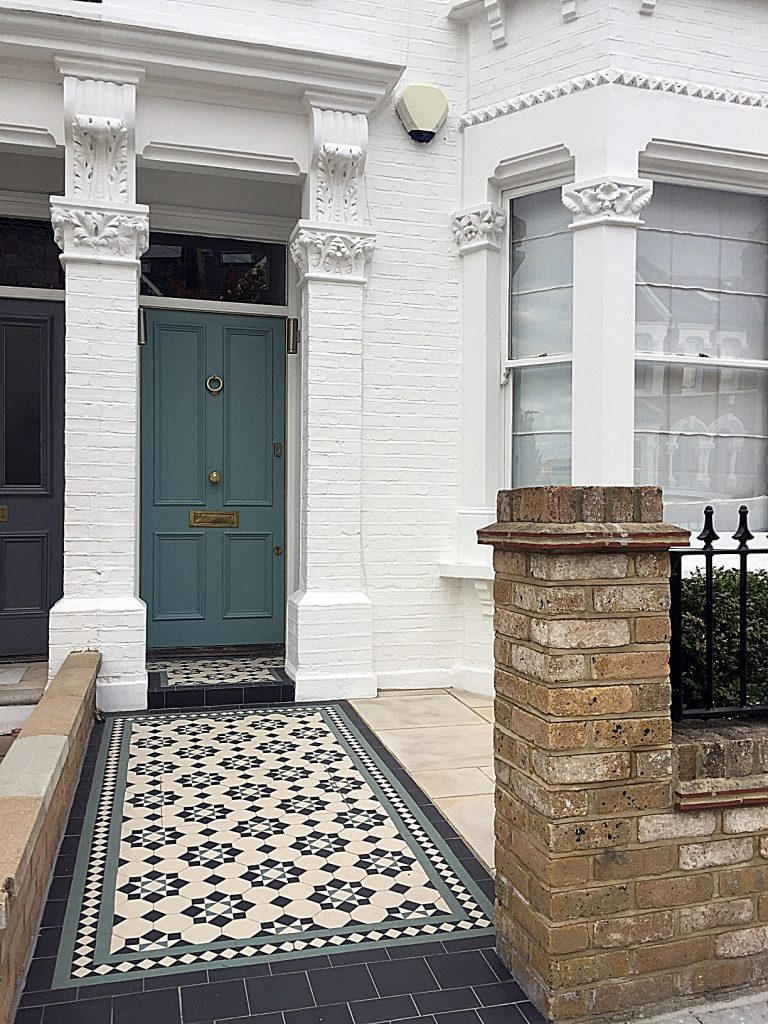 edwardian-multi-colour-mosaic-grey-colour-scheme-paving-tile-london-fulham-clapham-balham