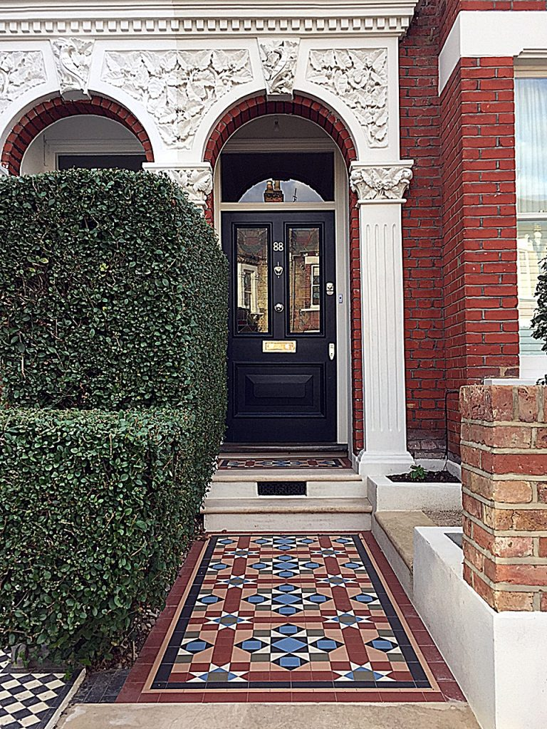 multi-colour-edwardian-mosaic-front-garden-design-london