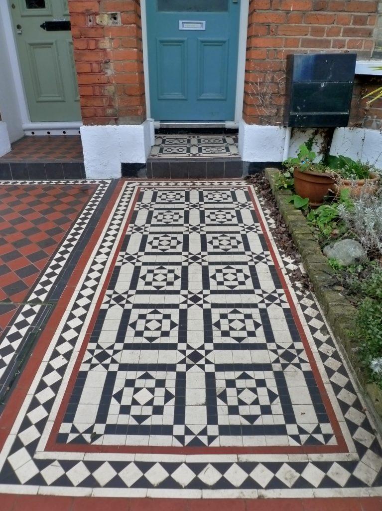 Victorian Mosaic Paving Wall Planting Storage Wrought Iron