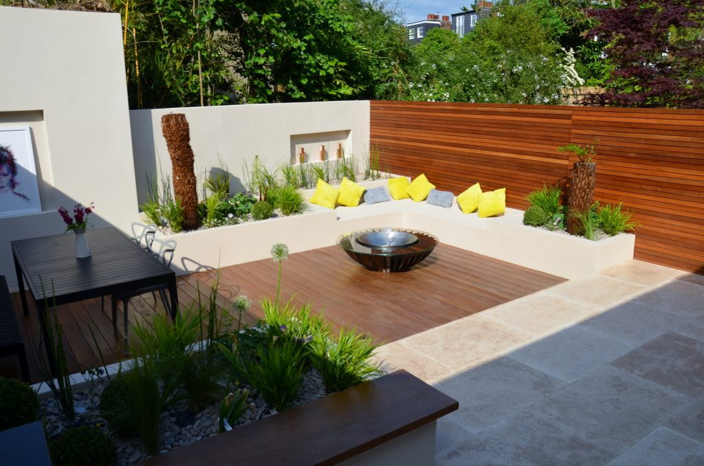 Modern Garden Design Outdoor Room With Kitchen Seating ...