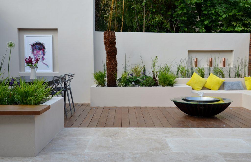 Modern Garden Design Outdoor Room With Kitchen Seating