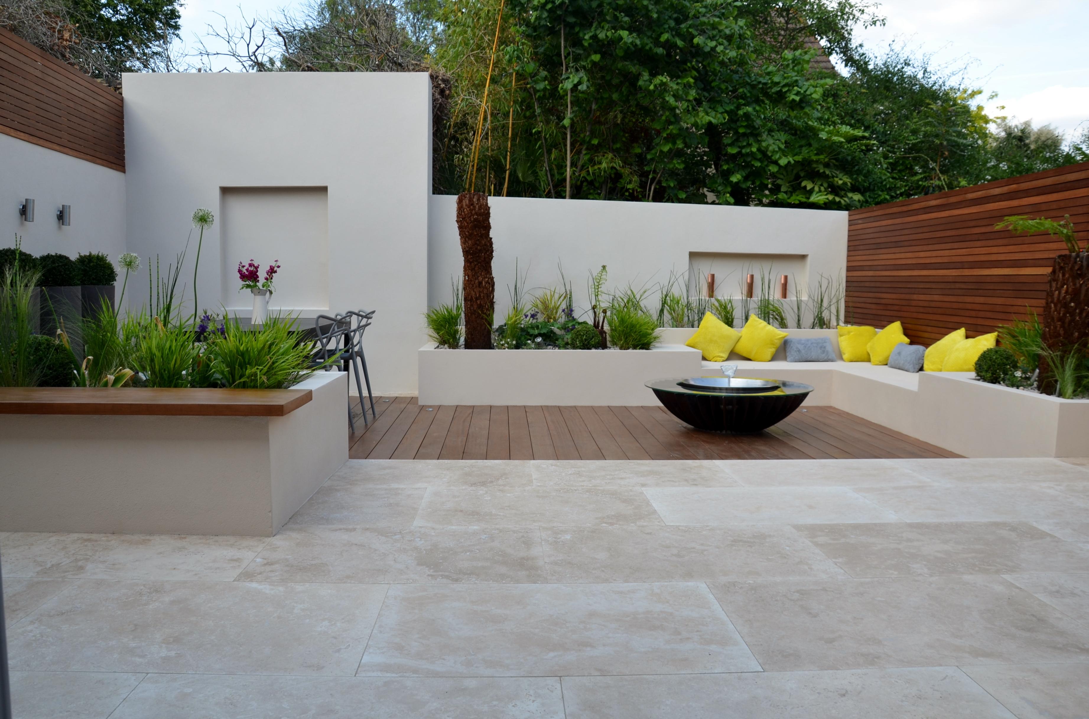 Modern Garden Design Outdoor Room With Kitchen Seating ... on Modern Yard Design id=25298