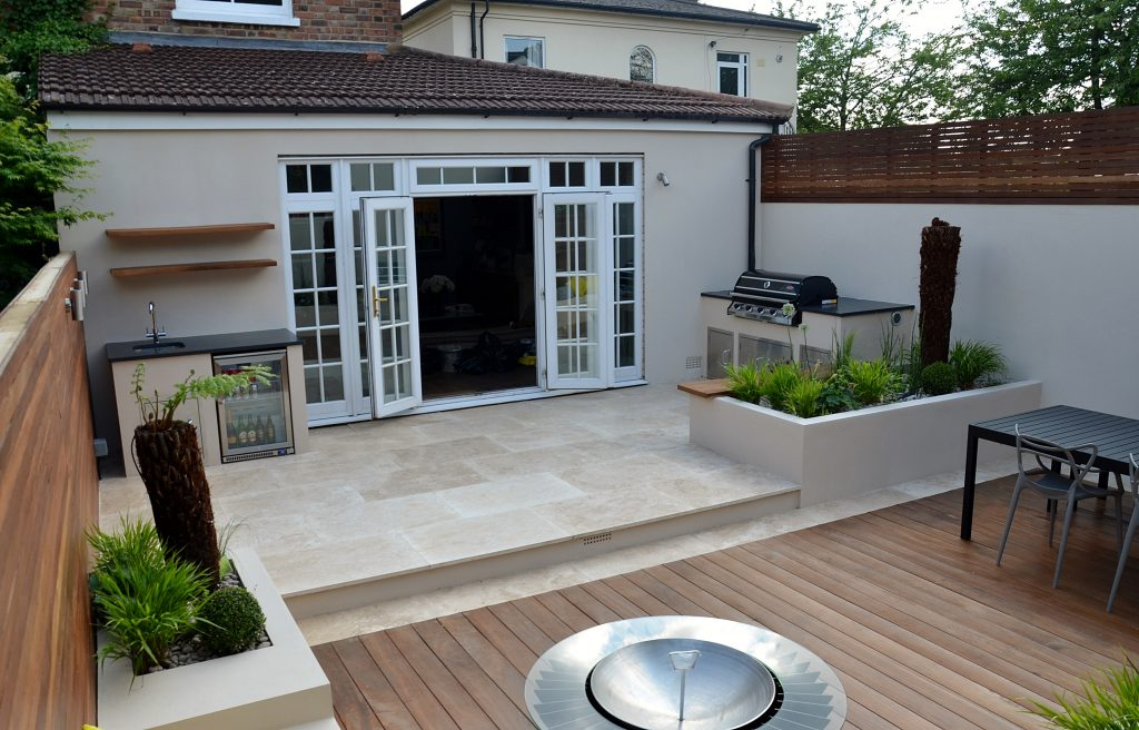 Modern Garden Design Outdoor Kitchen London Designer Cat