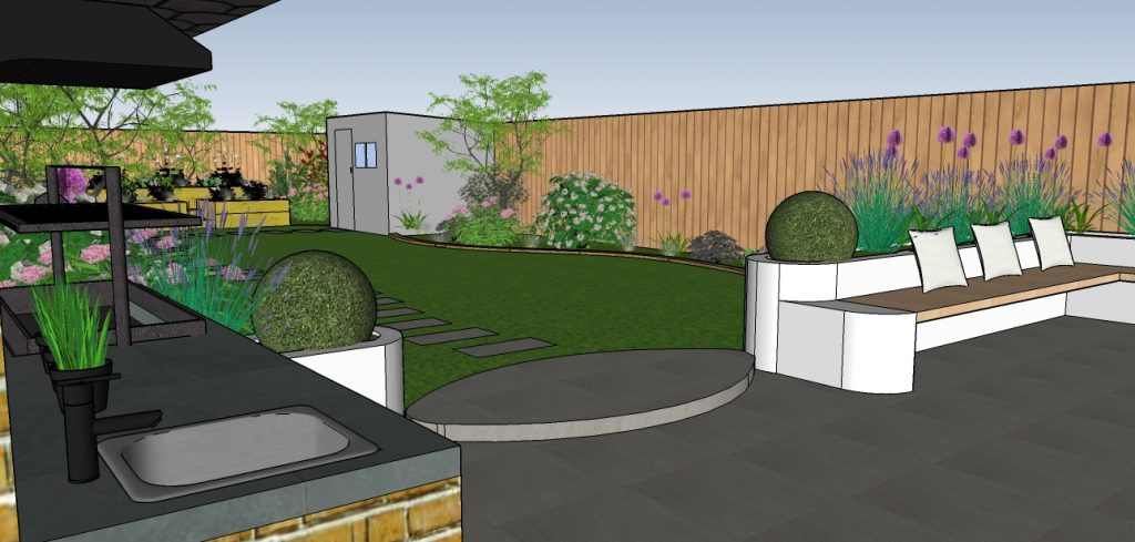 3d garden design london designer london garden design for Garden design 3d online