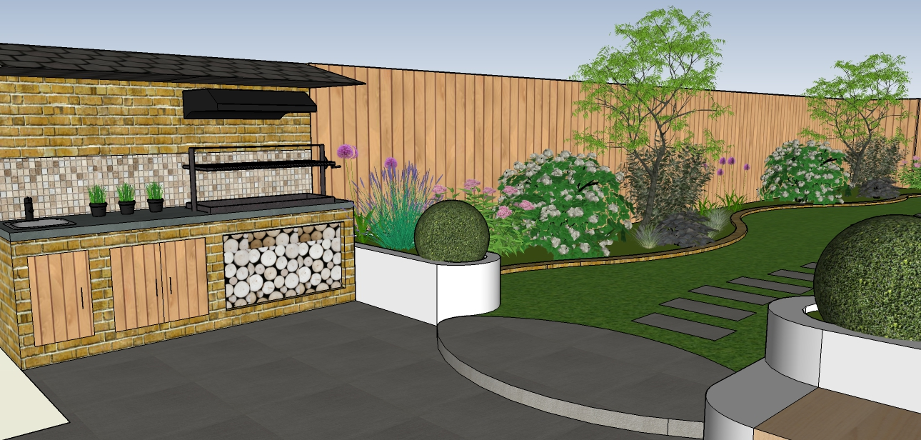 3d garden design roof garden design 3d model thumbnail for 3d garden design
