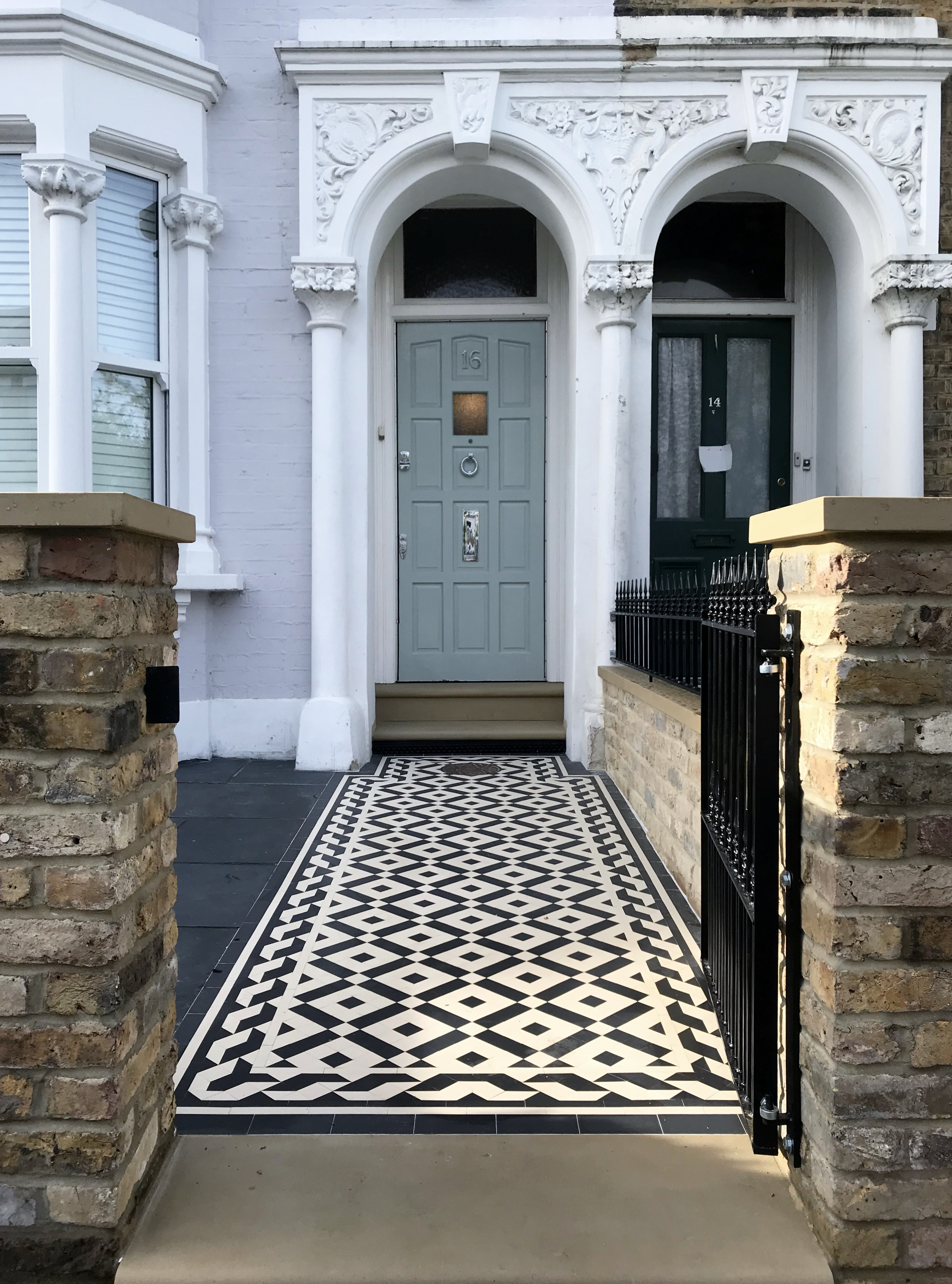 Mosaic Tiles Uk >> London Victorian Mosaic Tile Path London - London Garden