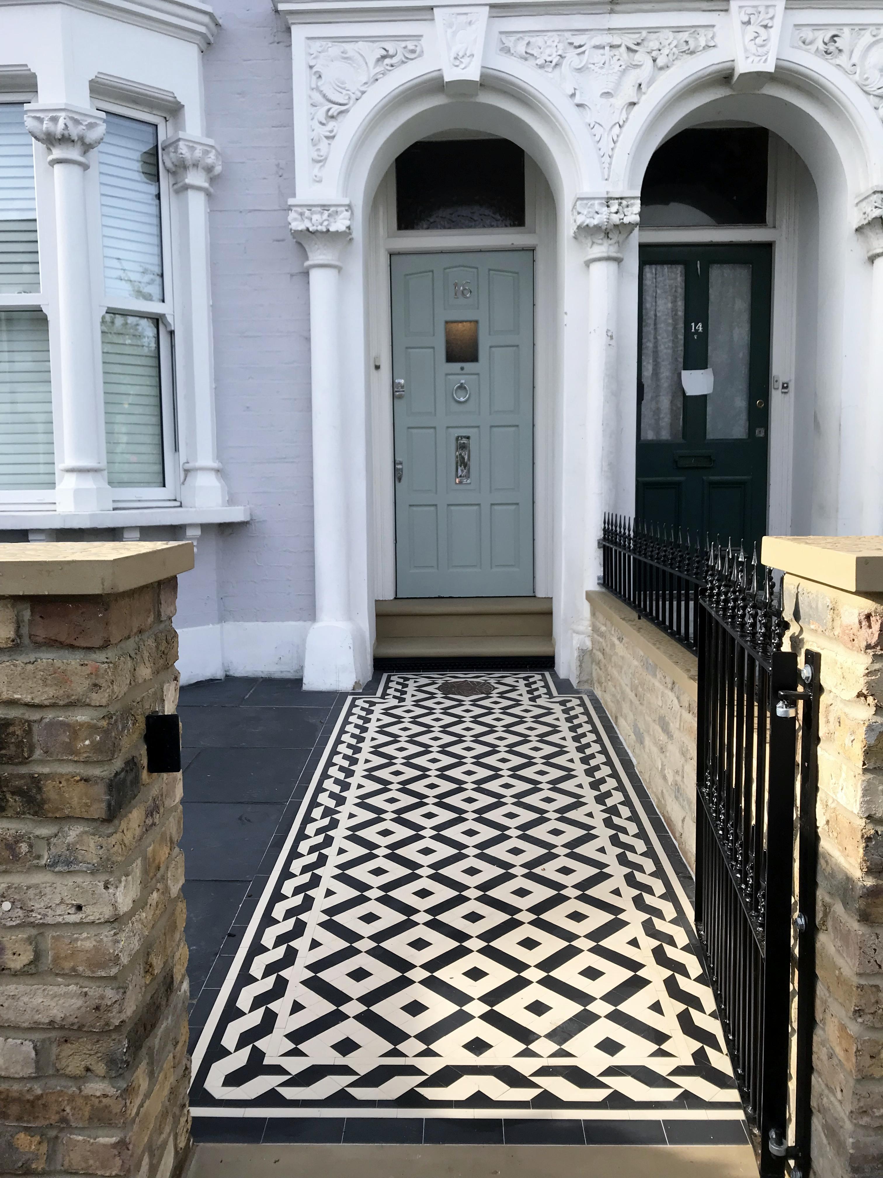 - Tile London Path Garden London London Mosaic Victorian