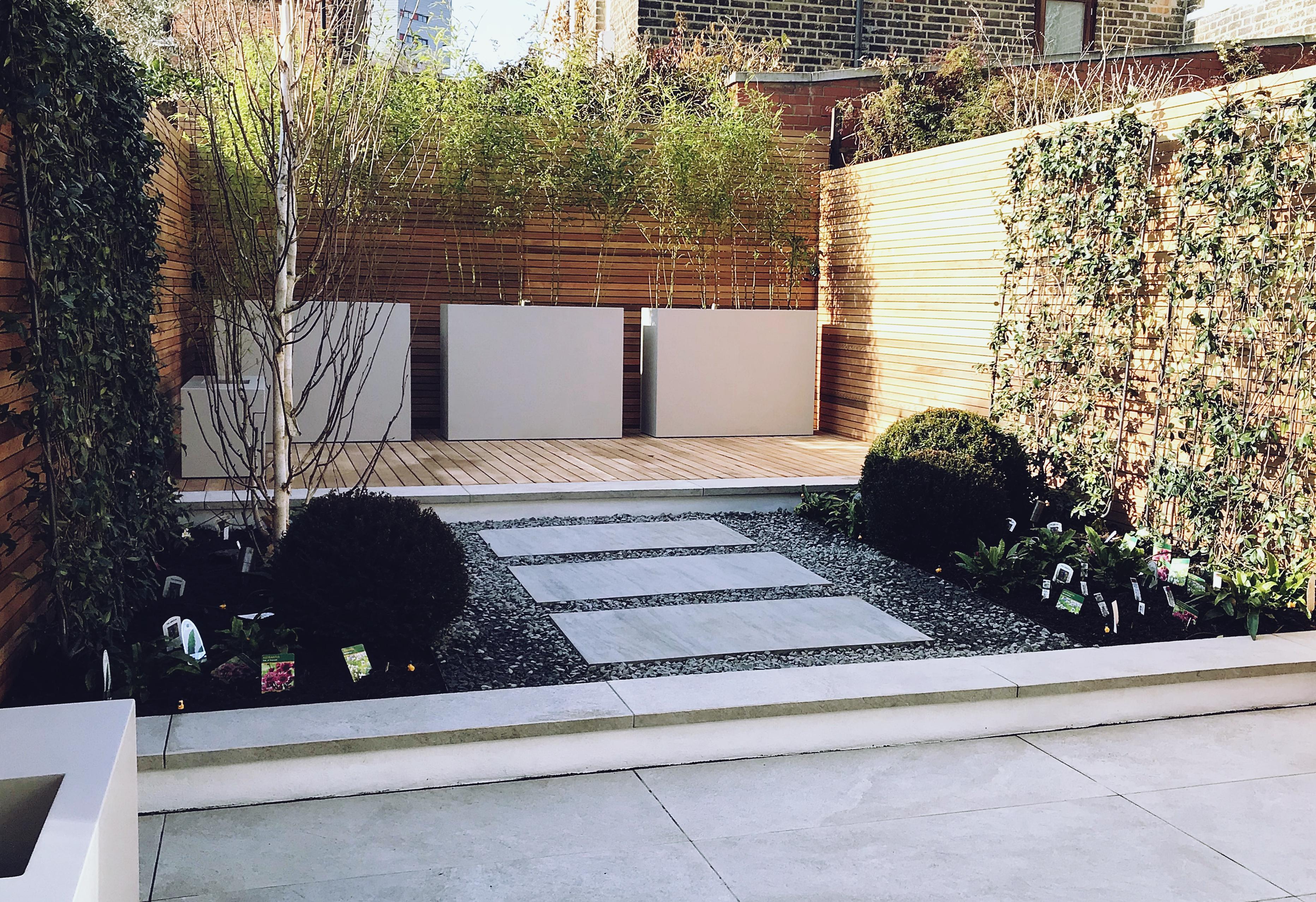 Modern Contemporary Garden Design London Balau Decking