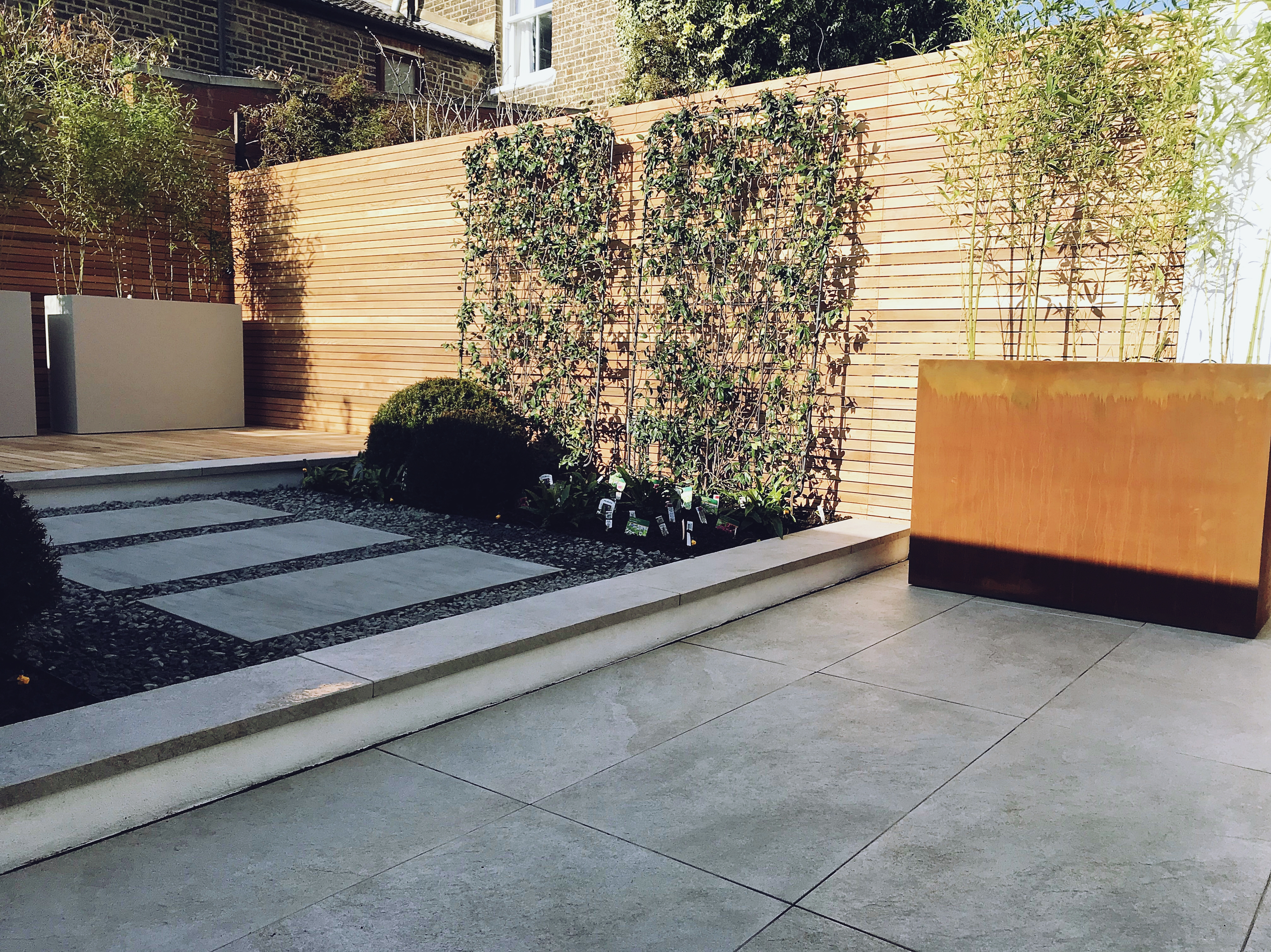 Modern Contemporary Garden Design London Balau Decking